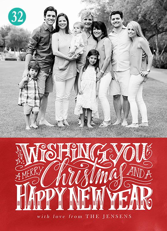 big family christmas card photography